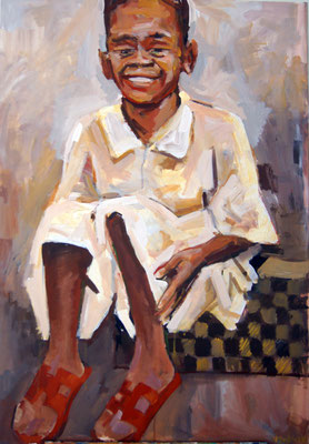 Shopper, acrylic on canvas, 80 x 60 cm