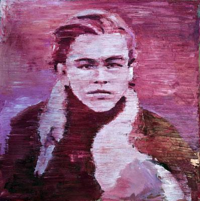 Dicaprio, oil on canvas, 100 x 100 cm, 2015