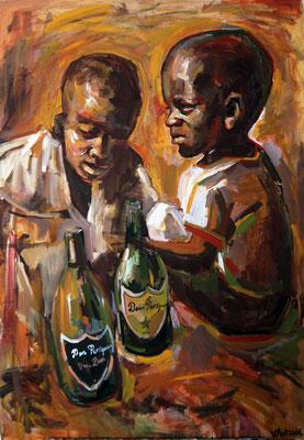 Party, acrylic on canvas, 80 x 60 cm