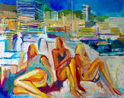 Dolce Vita, oil on canvas, 80 x 60 cm, 2015