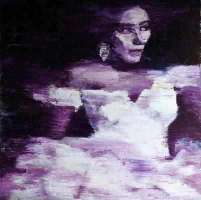 Violetta, oil on canvas 100 x 100 cm 2016