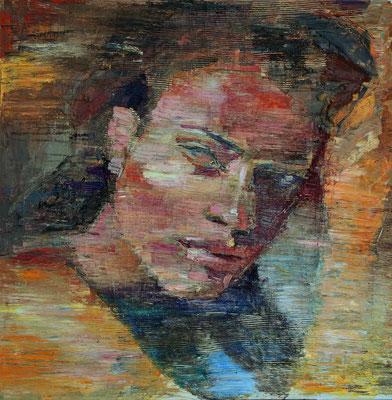Sha, oil on canvas, 100 x 100 cm, 2016
