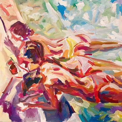 Girls, 50 x 50 cm, oil on canvas, 2015