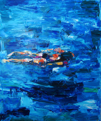 Flow, oil on canvas, 65 x 54 cm, 2016