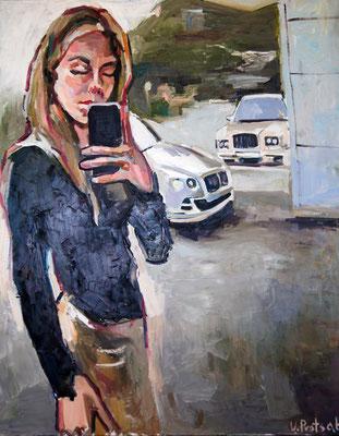 Selfie, oil on canvas 100 x 80 cm 2014