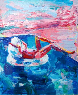 Dejavu, oil on canvas, 65 x 54 cm, 2016