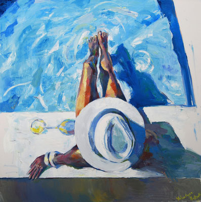Pina Colada, oil on canvas 150 x 150 cm 2019