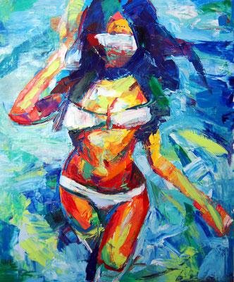 Solar, oil on canvas, 65 x 54 cm, 2016