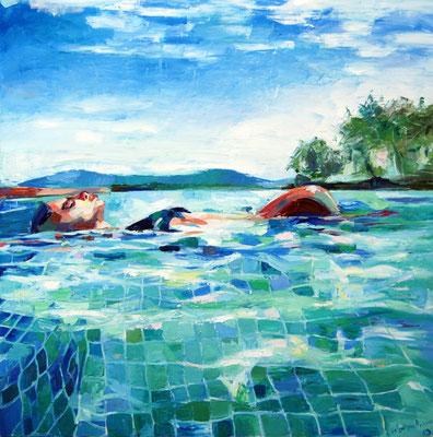 Oasis, oil on canvas 150 x 150 cm 2019