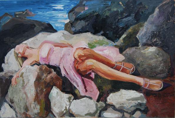 La nature, et una la femme, oil on canvas, 100 x 150 cm, 2020