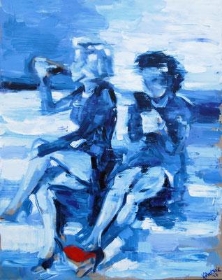 Marylin Monroe, oil on canvas, 100 x 80 cm, 2017