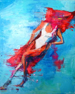 Lip stick, oil on canvas 75 x 55 cm 2016