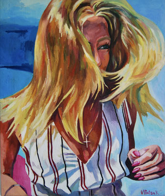Wavy, oil on canvas, 121 x 102 cm, 2021