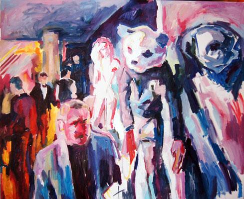 Twiga Monte-Carlo, oil on canvas, 100 x 120 cm, 2015