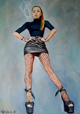 Mysterium Girl, oil on canvas, 170 x 120 cm, 2021