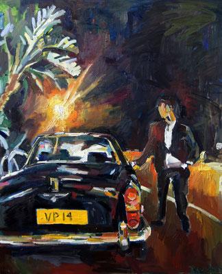 Monte Carlo Lights, oil on canvas 120 x 100 cm 2014