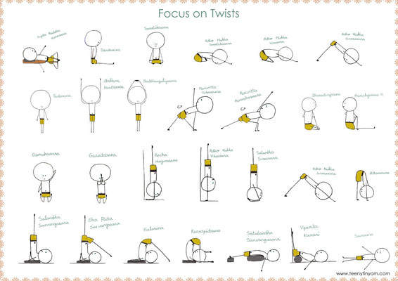Postures Iyengar en torsion