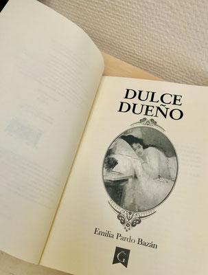 Libro novela de Dulce dueño de Emilia Pardo Bazán, Ediciones Garoé 2020