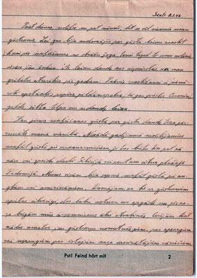 Jāņa pierakstīto burtnīcu 2.lappuse