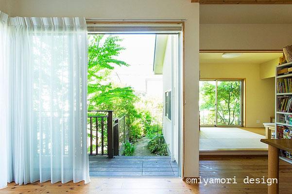 緑のつつまれた暮らし©miyamori design