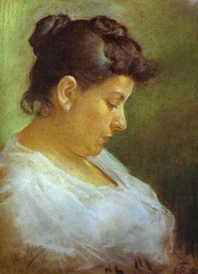 Portrait de la mère de l'artiste, pastel sur papier, 49x39 cm, 1896.