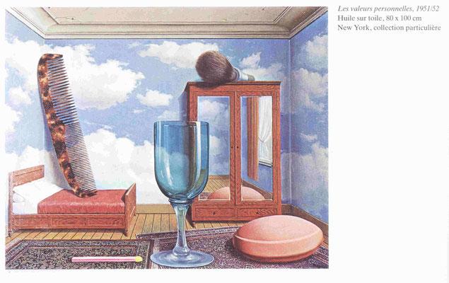 Magritte René, Les valeurs personnelles.