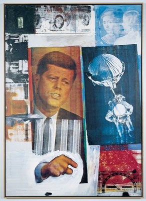 ​Robert Rauschenberg Retroactive II 1964, Museum of Contemporary Art (Chicago).