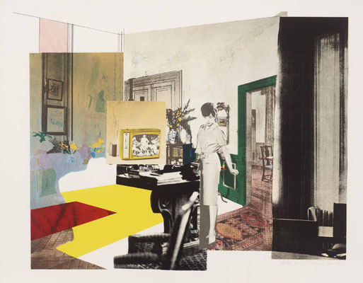 Richard Hamilton, Interior, 1964–5 , reproduction de 495 x 638 mm, Tate gallery, Londres.