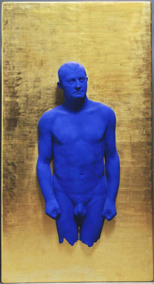 Yves Klein (1928-1962) Portrait-relief « Arman », 1962 Bronze, contreplaqué, moulage, peint, plâtre 1,75 x 0,95 x 0,26 m Paris, musée national d'Art moderne - Centre Georges Pompidou Acquisition en 1968 © ADAGP,