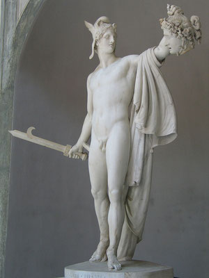 Antonio Canova. Persée tenant la tête coupée de Méduse (1805). Musée du Vatican