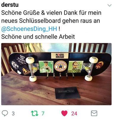 """""""schönES Ding"""" - Skateboard-Board mit Lieblingsstickern"""