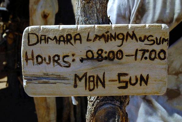 Das Lebende Museum der Damara ist das erste traditionelle Damara Projekt in Namibia und das Einzige seiner Art, weltweit.