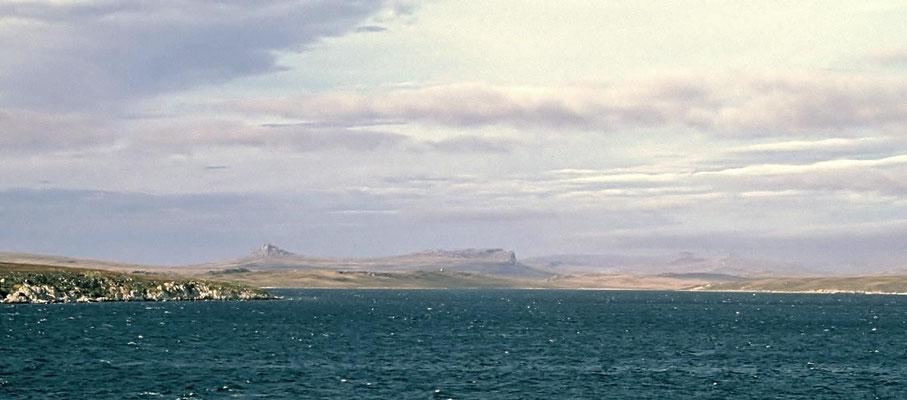 Die Falklandinseln oder auch Malvinas genannt.