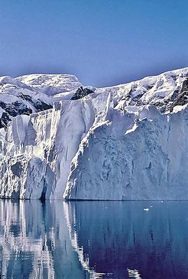 Abbruchkante eines Gletscher an der Paradise Bay.