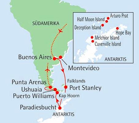 Abenteuer Antarktis - Von Buenos Aires auf Südkurs