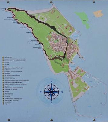 Karte der Hauptinsel