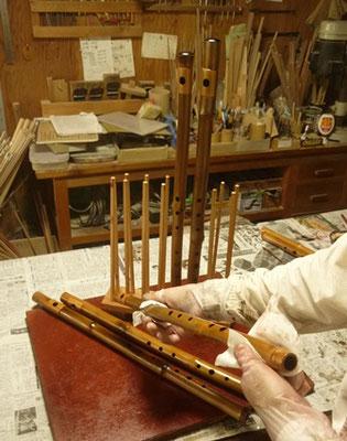 オリジナル横笛D管漆塗り