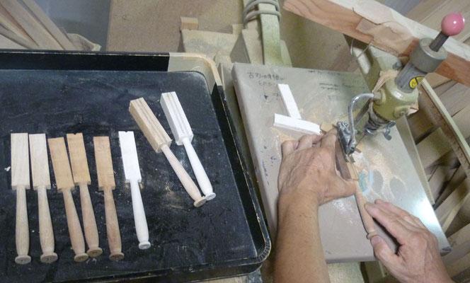 バターナイフ製作中3 ~糸鋸盤でのカッティング