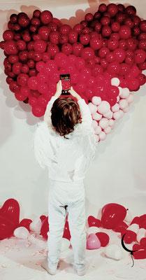 cuore palloncini san valentino allestimento bambino angelo
