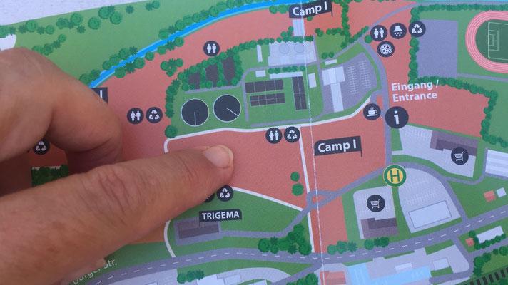 Unser Standplatz auf Camp 1