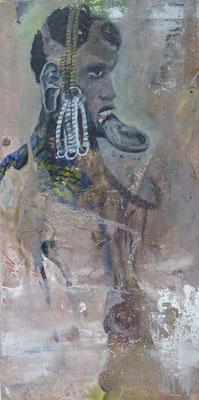 """Mursi""  40 x 20 cm,  2013"