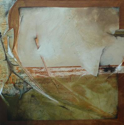 """""""folge dem Fluß und finde das Meer""""  100 x 100 cm,  2011"""