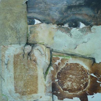 """schwarze Hoffnung""  80 x 80 cm,  2011"