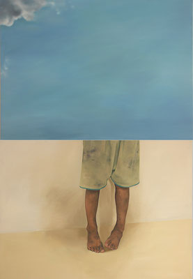 The sky is above and we are the earth (Diptych, 120 x 160 cm each, oil on canvas, 2006)