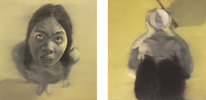 80% (Diptych, 160 x 160 cm each, oil on canvas, 2006) – sold