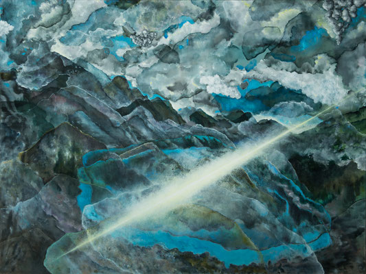 Landscape, 120x160 (cm), Öl auf Leinwand (sold)