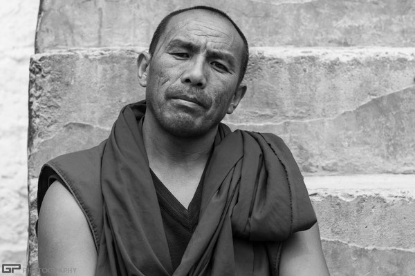 Zanskar - Monk in the monastery of Stongde
