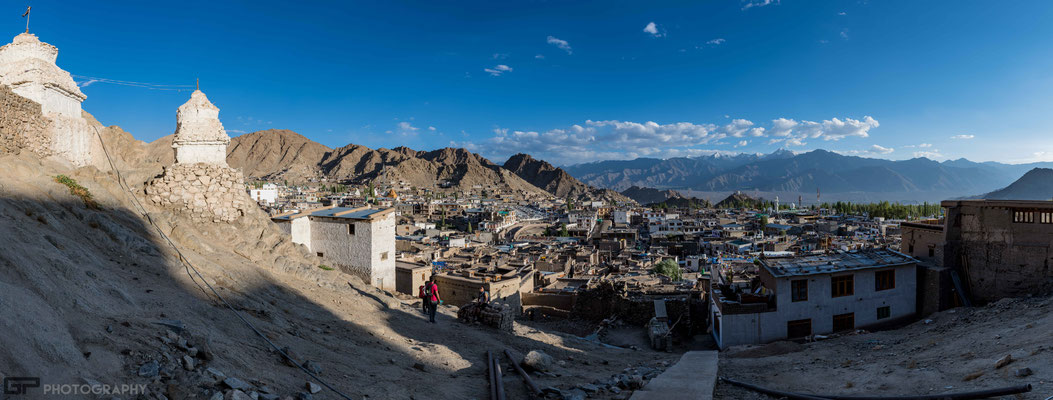 Ladakh - Panoramic view on Leh from the Old Palace