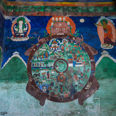 Ladakh - Likir monastery - Wheel of Life