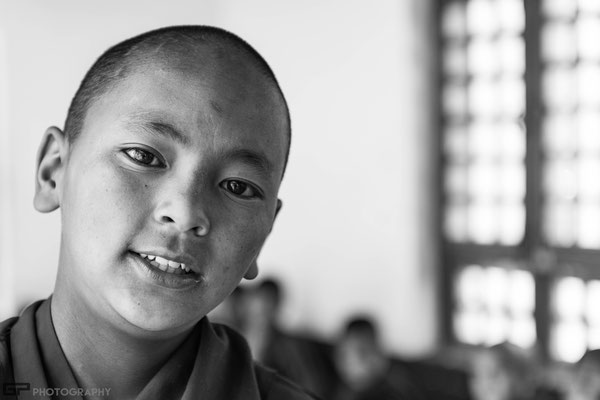 Zanskar - Young monk in the monastery of Karsha